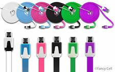 6ft Heavy Duty Data Sync Charging Flat Tangle Free Cable Cord for LG Cell Phones