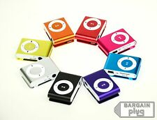 MP3 Player Media Music 1-8GB Micro SD TF Memory Clip Colors Metal USB USA SELLER