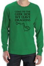 Come To The Geek side Long Sleeve T-Shirt Dragons Cookies Dark Side Print Funny