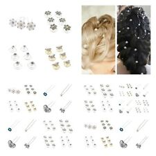 Stunning Crystal Pearl Wedding Prom Hair Pins Coils Chains Many designs