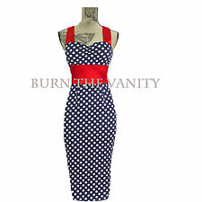 NEW VINTAGE CHIC 50'S 60'S ROCKABILLY RETRO OFFICE PENCIL WIGGLE PIN UP DRESS