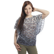 Ladies Innocent Lifestyle Women Heart Fly Poncho Grey/White Clearance Price