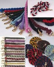 Rhinegold Thick Cotton Lead Ropes, 2m, Horse/Pony/Dog, Single/Twin/Tri. Colours