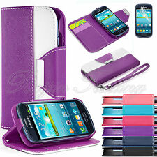 Premium Slim PU Leather Wallet Case Stand Cover For Samsung Galaxy S3 Mini i8190
