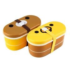 Lovely High Heat Resistance Double Layers Chopsticks Plastic Bento Lunch BoxDX