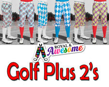 """Royal And Awesome Golf Plus Two`s Trendy Golf Shorts Trousers size 32 - 42 """""""