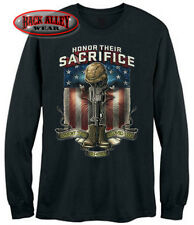 HONOR THEIR SACRIFICE ~ LONG SLEEVE T-Shirt Tee ~ Support the Troops VETERAN