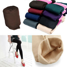 Lady Women Winter Thick Warm Skinny Slim Stretch Footless Tights Leggings Pants