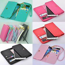 luxury Wallet Card Holder Full Cover Case For Alcatel cell phone