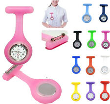 Hot Sale Silicone Nurse Watch Brooch Fob Tunic Quartz Movement Watch Purple
