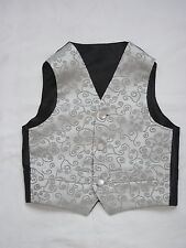 Excellent Quality and Value Silver Swirl Wedding Waistcoats