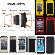 For iPhone 5S 6 Plus Heavy Aluminum Military Duty Protective Housing Cover Case