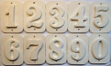 House numbers - Paint yourself - weatherproof ceramic