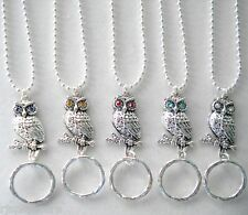 ID Name Badge Holder OR Handy Reading/Sun Glasses Holder.Lanyard. 5 Colors. Owl