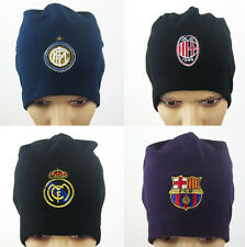 2014 2015FC Real Madrid Barcelona AC MILAN fans soccer sport winter hat cap B