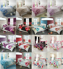 4PCS COMPLETE SET  DUVET QUILT COVER + FITTED SHEET+PILLOWCASES DOUBLE & KING