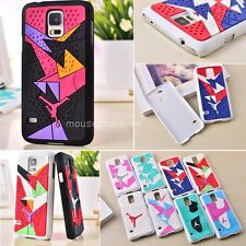 For Samsung Galaxy S5 i9600 3D Air Jordan Sports Shoe Sole Rubber Case Cover