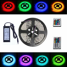 5M RGB 5050 SMD LED Strip Light Bombillas Lamp+24/44key IR Remote+12V 6A Adapter