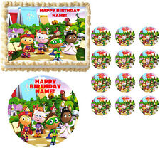 SUPER WHY Characters Party Edible Cake Topper Frosting Sheet Image-ALL SIZES!