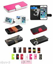 for Apple iPhone 5 5S PU Leather Wallet Flip Case Card Holder Slot Pouch Cover