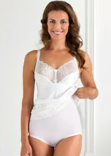 NEW MISS MARY OF SWEDEN WHITE BODYSHAPER NON WIRED LACE CUP PLUS SIZES 34C-46DD