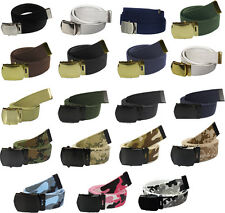 Web Belt With Buckle Military Camouflage Solid Cotton  Rothco