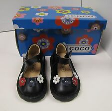 Boutique Girls Toddlers Shoes Black Leather Coco Jumbo
