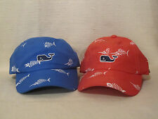 Vineyard Vines Fishbone Slam Hat/Cap Blue OR Red-FREE Whale Sticker
