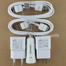ORIGINAL OEM Quality For Samsung Galaxy S5 Note3 Wall &Car Charger 3.0 USB Cable