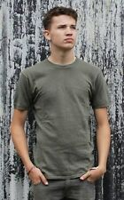 German Army Surplus Olive Green T-Shirt Tee Top Military 100% Cotton Cadets G2