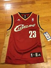 New LeBron James # 23 Cleveland Cavaliers Adidas Replica Youth Red NBA Jersey