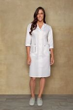 "Dickies Style 84503 Button Front WHITE Nurse's Uniform Dress 40"" XS-5XL"