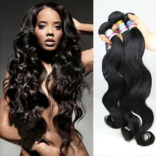 Brazilian Body Wave 100% Natural Black Virgin Remy Human Hair