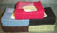 MICROFIBER Dish Cloth with Mesh Scrubber VARIOUS COLORS - 4 PC SET