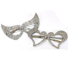 New Bling Crystal Rhinestone Mask Masquerade Carnival Party Queen Costume Silver