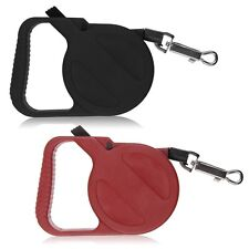 3M Automatic Retractable Leash Lead Strap Adjustable Dog Leash Rope Black/Red