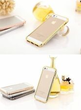 Crystal Rhinestone Diamond Bling Metal Case Cover Bumper For iPhone 4 4S & 5 5S