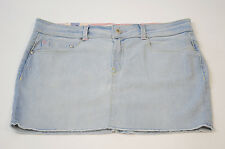 GENUINE WOMENS ROXY SKIRT DENIM LIGHT WASH (XMWSK143) (R2)