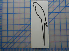 "Macaw Outline Decal Sticker 5.5"" 7.5"" 11"" Parrot Hyacinth Blue Yellow Red Wing"