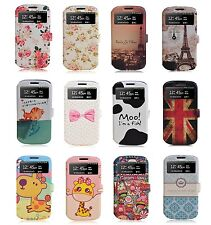 Window View Wallet Card Flip Leather Case Cover For Samsung Galaxy S3 SIII i9300
