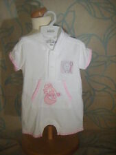 Baby girl 'cow over the moon' waffle sleep play suit, pink trim,adorable w/ hood
