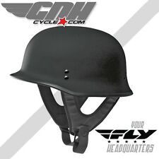 FLY 9MM DOT GERMAN WWII Style Half Helmet Flat Black