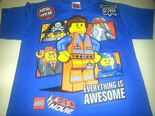 THE LEGO MOVIE BOYS EVERYTHING IS AWESOME EMMET BENNY T SHIRT  SIZES  6/7