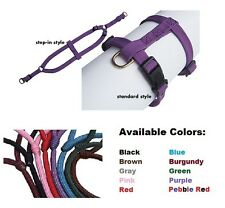 Timberwolf Sequoia SOFT Flat Braided Nylon Harness Dog Puppy ALL SIZES & COLORS