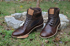 Men's Brown Boots in 100% Genuine Leather Made in Portugal BullBoxer K8-4158