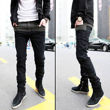 Best Sale Korean Mens Jeans Skinny Straight Fit Pencil Pants Feet Trousers LCJ