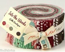 "MODA Into the Woods Jelly Roll by 40 Fabric Strips of  2½"" x  45"""
