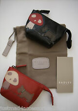 RADLEY - IN THE GLADE - LEATHER COIN PURSE WITH INTERNAL KEYRING - RED or BLACK