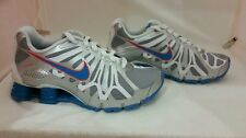 NEW WITH DEFECT NIKE BIG KIDS SHOX TURBO 13 GRADESCHOOL SIZE 525236-002 SILV/BLU