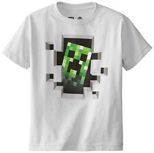 Minecraft Creeper Inside Silver  Youth T-Shirt.